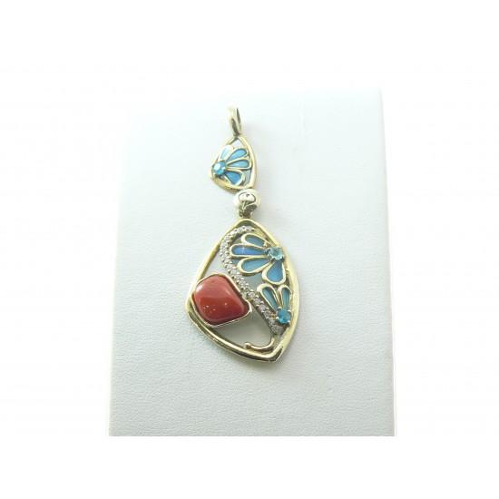 Gaetano Vitiello Jewelry Ciondolo con corallo 024001