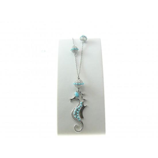 Gaetano Vitiello Jewelry Girocollo cavalluccio marino turchese 306250