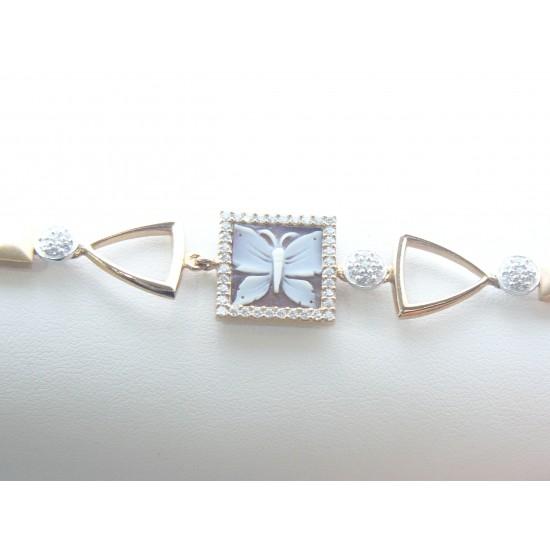 Gaetano Vitiello Jewelry Bracciale in argento e cammeo 308025