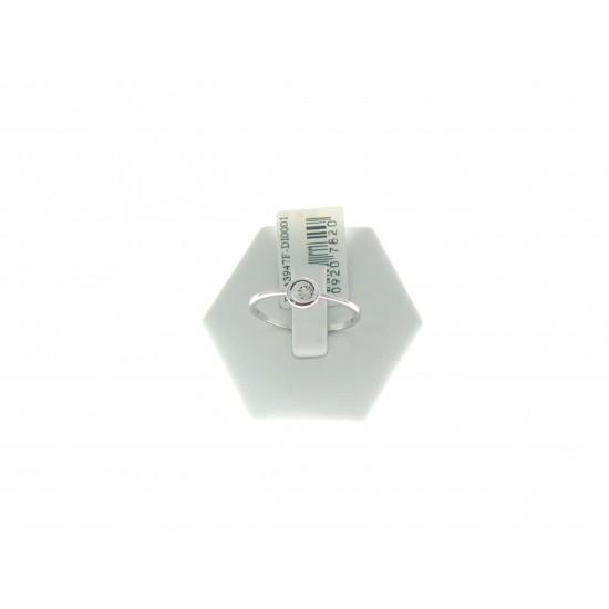Anello con cerchio in oro bianco 18kt e diamante ref.PDA3947F
