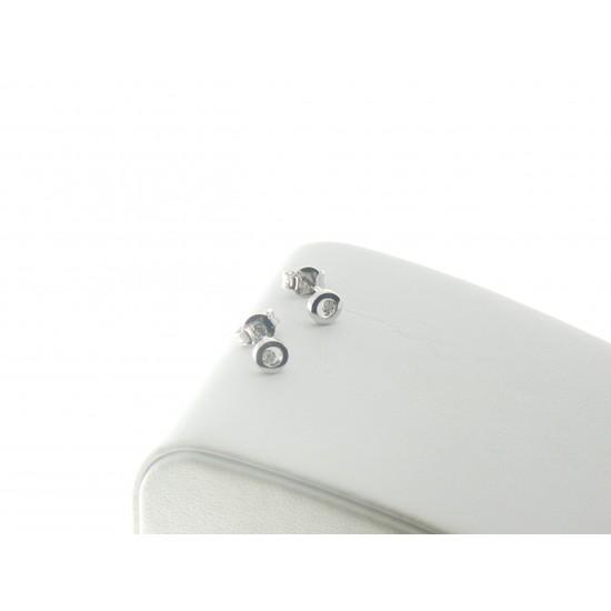 Orecchini con cerchio in oro bianco 18kt e diamanti ref.PDO3406F