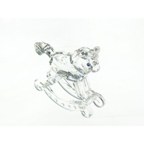 Swarovski  Silver Crystal - Cavallo a dondolo 183270