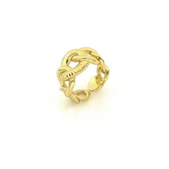 Unoaerre Anello in bronzo dorato 498096